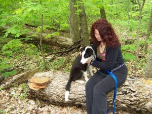 Ivana Holub and Monty her Border Collie